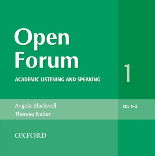 Open Forum 1. Audio CD