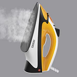 Usha Steam Iron (3515) 1500-Watt with Overheating Protection (Mustard Yellow)