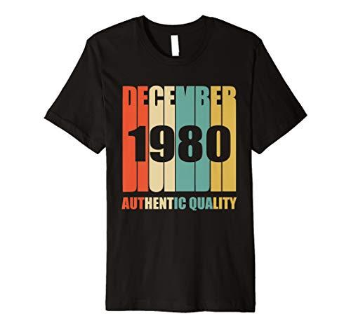 Retro Dezember 1980 T-Shirt Vintage 38. Geburtstag Geschenk