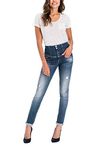 Salsa - Jeans Diva Slim délavage premium - Femme Bleu