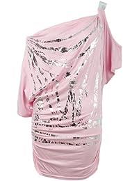 Fast Fashion - Top Chauve Souris Epaule Nu Imprimé - Femme