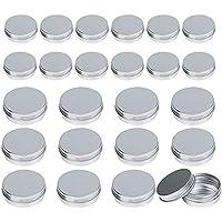 24 pcs lata aluminio vacio LANMOK hacer labio Ungüento de dos medidas 30ml y 60ml para cosmetica, viajes almacenamiento, aceite, etc