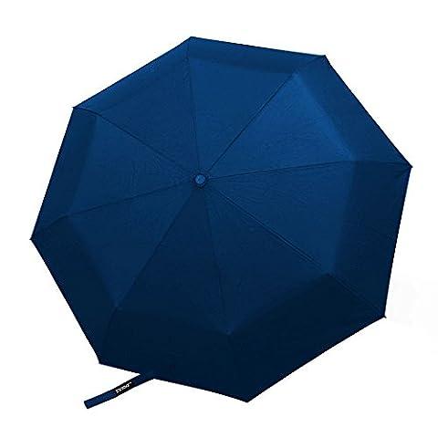Innoo Tech Parapluie pliable avec ouverture et fermeture automatique - Parapluie pliant résistant au vent testé à 55 km/h - Parapluies de voyage bénéficiant d'une longue garantie ( Bleu