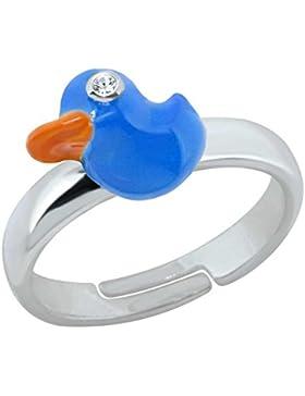 SL-Collection Ring Kinderring blaue Ente Grösse einstellbar 925 Silber