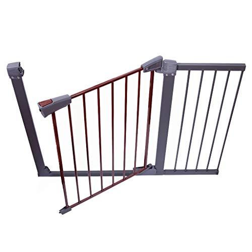 barrière de sécurité Porte extra large pour animaux de compagnie pour les portes d'escaliers intérieur, porte de sécurité réglable pour chien ou chat, protecteur de chat, métal, gris et rouge, 77-173c