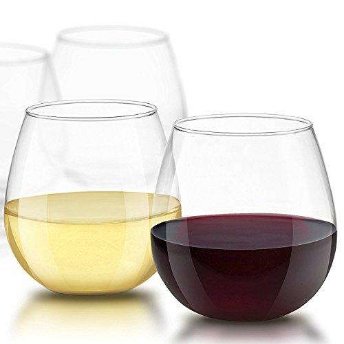 Spirituosen ohne Stiel Wein Gläser 15Unze, Set von 4ideal für weiß oder rot wine Muttertag Geschenke Weine Glas Sets -