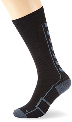 Hummel Socken TECH INDOOR Socks HIGH, Black/Dark Slate, 14 (46-48), 21-075-1078