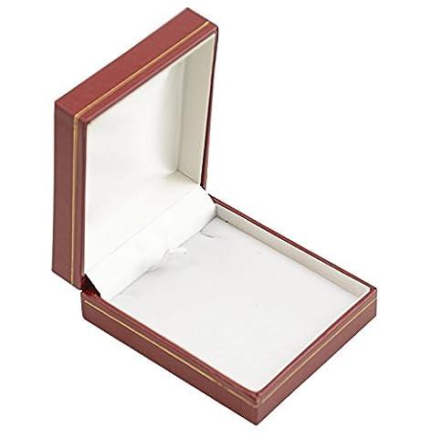 Beautiful Red Leatherette Pendant / Drop Earring Box - Presentation