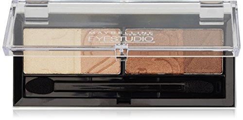 Maybelline Eyestudio Quattro Lidschatten Nr. 5 Glamour Browns, 4 optimal aufeinander abgestimmte Farben, für ein professionelles Schmink-Ergebnis, mit ultra-feinen, schimmernden Farbpigmenten, 5 g (Palette Smokey Eye)