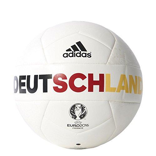 adidas Herren Ball EURO 2016 OLP Deutschland Capitano White/Eqt Yellow/Power Red, 5 (Adidas-fußball-uniformen)