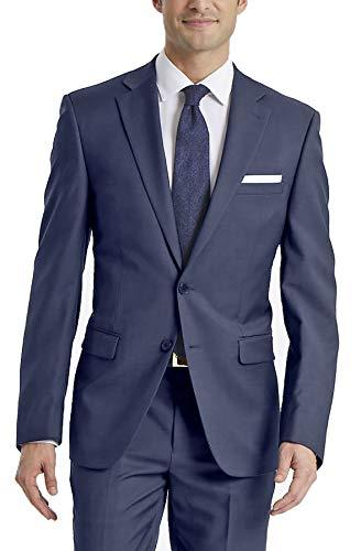 Calvin Klein Men's X-Fit Slim Stretch Suit Separate (Blazer and Pant), Blue, 42 Short (Kurze Calvin Klein Body Herren)