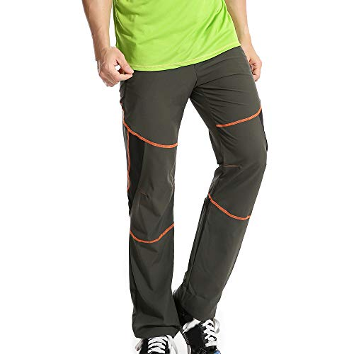 Herren Outdoors Schnell trocknende Hose Trekkinghose Herren Softshell-Hose Berghose Funktion Hose Skinny Jeans(Armeegrün,M)