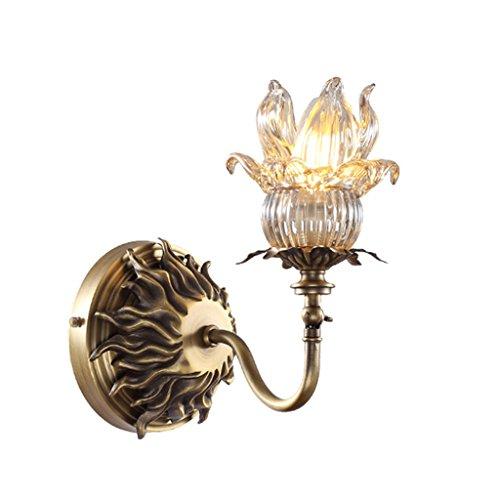 Guo Europäische - Style Französisch Copper Lampe Wohnzimmer Schlafzimmer Schlafzimmer Lichter Hoch - Grad Reines Kupfer Flamme Einzel-Kopf-Lampe - Französisch Ein Licht