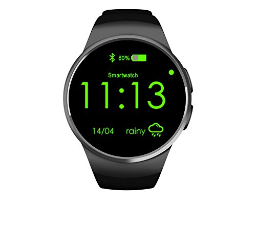 [Waterproof] Bluetooth Smart Watch Touch Screen SmartWatch Sync Notifications/Excerise Tracker/Anti Lost for Baby Pet Smart Watch for Android & iOS8_Black Unlocked Touch Screen Cell Phone