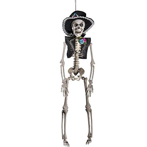 Carnival Toys 9039 Mexican Skelett, 40 cm, one Size (Muertos De Artikel Los Dia)