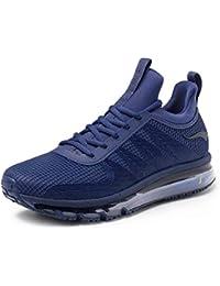 best website 26760 7786a ONEMIX Air Uomo Scarpe da Corsa Sportive Basse Running Sport Sneaker Rosso
