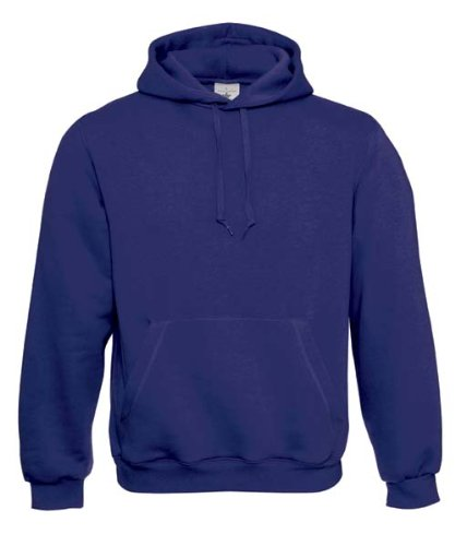 B&C Herren Kapuzenpullover / Hoodie / Kapuzensweater Indigo