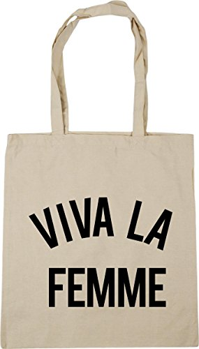 HippoWarehouse Viva La Femme Tote Shopping Gym Beach Bag 42cm x38cm, 10 litres