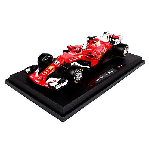 LUCKYCAR 1:18 Ferrari F1 Gleichung Rennwagenmodell, Kinderspielzeug, Kinder-Druckguss-Geburtstagsgeschenk, Simulation Mini-Auto (Farbe: weiß)