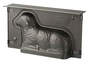 Zenker Lamm Backform, Lammform mit Antihaftbeschichtung für Ostern, Osterlamm-Backform (Kuchenform: ca.275x150x65 mm), Menge: 1 Stück