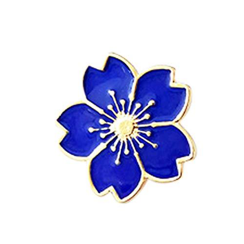 GREENLANS Mode Broschen, Blume Metall Pin Sweater Shirt Kragen Abzeichen, Frauen Partei Schmuck, Geburtstag Weihnachten Valentinstag Dekor Geschenk Blau