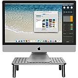 Premium Monitorständer - stabiler Bildschirmständer, platzsparend Design und Höhenverstellbarkeit sorgen für die ideale Monitor Höhe