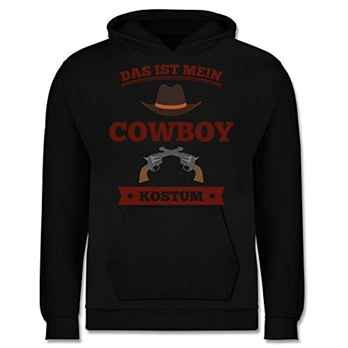 Shirtracer Karneval & Fasching Kinder - Das ist Mein Cowboy Kostüm - 12-13 Jahre (152) - Schwarz - JH001K - Kinder Hoodie (Kostüm Sheriff Jungen)