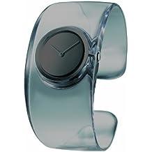Issey Miyake SILAW002 - Reloj analógico para mujer, correa de resina color gris
