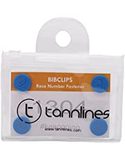 Tannlines BibClips - Marathon Race Number Fastener (Set of 6 Clips) | Say No to Safety Pins | No Making Holes on Your Running Top | Patented Design