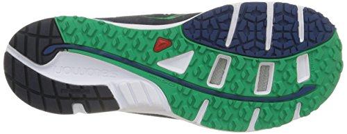 Salomon Herren Sense Mantra 3 Sneaker mehrfarbig (Deep Blue/Wh/Real Green)