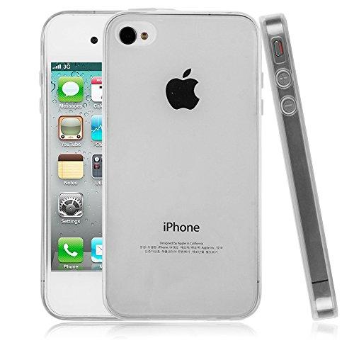 SDTEK iPhone 4 4S Custodia Cover Case Bumper Caso Trasparente Crystal Clear Silicone Gel
