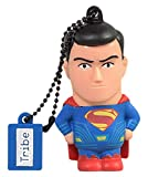Tribe DC Comics Action Figure Superman Movie Chiavetta USB da 16 GB Pendrive Memoria USB Flash Drive 2.0 Memory Stick, Idee Regalo Originali, Figurine 3D, Archiviazione Dati USB Gadget in PVC con Portachiavi - Multicolore