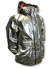 PAUL & SHARK Outerwear Jacket in Metallic Silver Size L Nylon