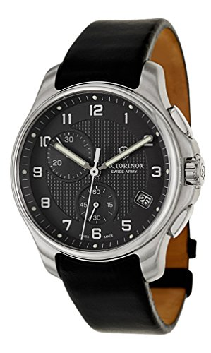 swiss-army-classic-officers-chronograph-gmt-stainless-steel-mens-strap-watch-black-dial-241552