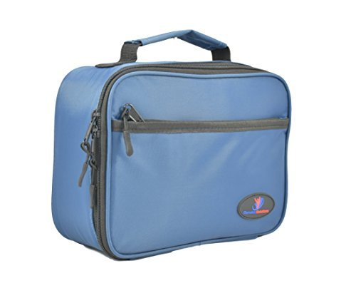 insulated-lunch-box-for-kids-with-double-sewn-nylon-zipper-pockets-and-carry-handle-blue