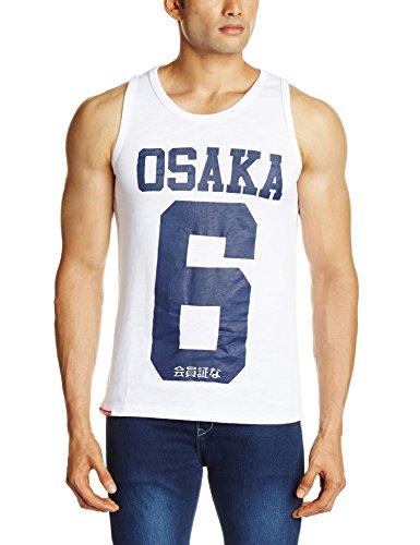 Superdry Osaka fs-Top gestreift Weiß - weiß