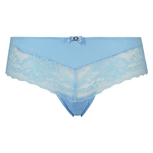 Hunkemöller Damen Brazilian Maya 121640 Blau L (Slip Lace-slip-hälfte)