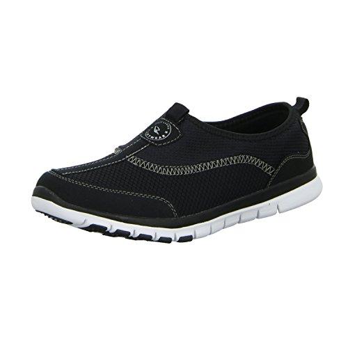 Sneakers GC14275 Herren Slipper Halbschuh sportlicher Boden sportliche Optik Schwarz (Schwarz)