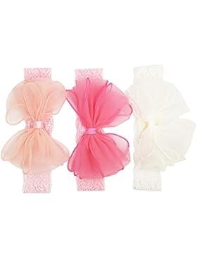 Emitha 3 Stück Baby Stirnbänder verknotete Baby Stirnband Baby Top Knot, Baby Turban, Mädchen Headwrap Knot Stirnband...