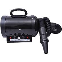 Secador Pelo 2400W Potencia para Perros y Mascotas con Tubo Flexible 2'5 m Negro