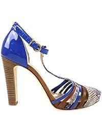 FRANCESCO MORICHETTI Zapatos Mujer 39 Sandalias Azul Marrón Rosa AP397