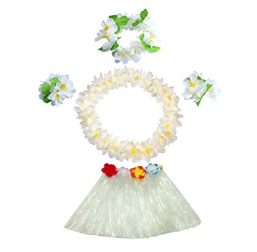 Black Temptation Hawaiian Grass Rock Set, 30cm Hula Gras Kleid Kostüm, Kinder, 01