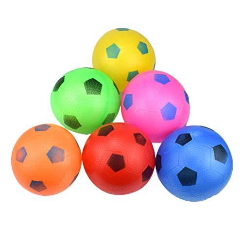 barer Fußball Strandball Spielball Sommer Pool Ball für Kinder Outdoor Strand Spielzeug 6 Stücke (Zufällige Farbe) ()