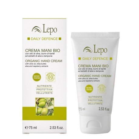 Organic HAND Cream with olive oil, shea butter, aloe and raspberry extracts / Estratti bio crema MANI con olio di oliva, burro di karitè, aloe e lampone 75ml