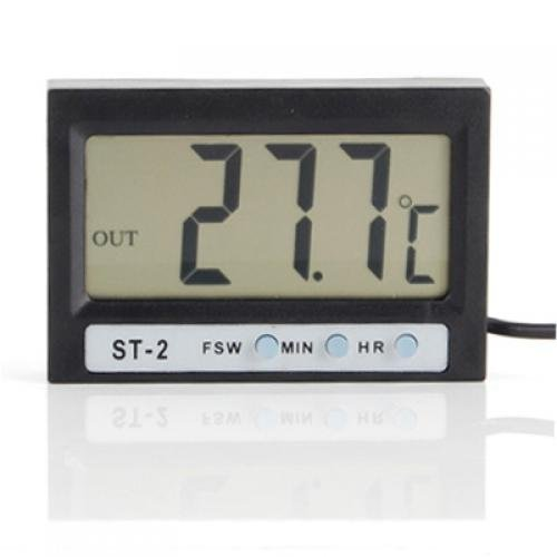 LCD Indoor Outdoor Digital Thermometer Uhr mit 2 Sensoren C