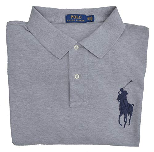 Ralph Lauren Big & Tall Poloshirt Big Pony Polo Grau (2XB) (Herren Tall Big Poloshirt)
