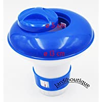 Pequeño dosificador/difusor de cloro o bromo flotante de plástico para pastilla pequeña - Jardiboutique
