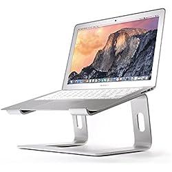 BoYata Support Ordinateur Portable, Support pour MacBook: Sable Multi-Angle Support Refroidissement, Compatible avec Les Ordinateurs Portables (10-15.9 Pouces), y Compris MacBook Pro/Air, HP (Argent)