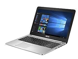 """Asus K501UX-FI116T Portatile, Display 15.6"""" 4K, Intel Corei7-6500U, RAM 16 GB, HDD da 1 TB e SSD da 128 GB, Scheda Grafica NVIDIA GeForce GTX 950M da 2 GB, Argento"""
