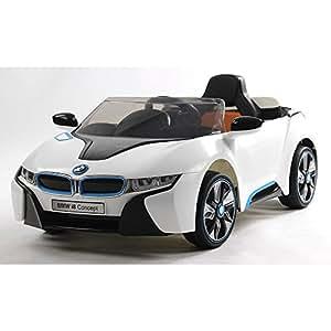voiture electrique enfant avec telecommande parentale bmw i8 12v blanc jeux et jouets. Black Bedroom Furniture Sets. Home Design Ideas